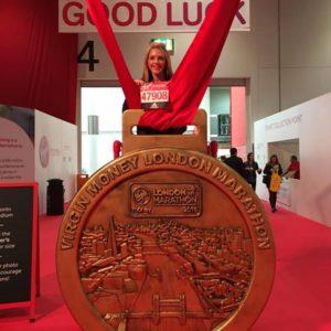 Natalie Steward London Marathon 2016 Remote Personal Training Ireland Fitness Sucess Achieve Sports Massage Thai Boxing Combat Conditioning Maidstone Dartford inov8 H